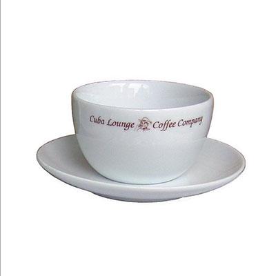 """""""CUBA LOUNGE"""" Caffè Latte-Tasse weiss statt 10,90 € jetzt 5,45 €"""