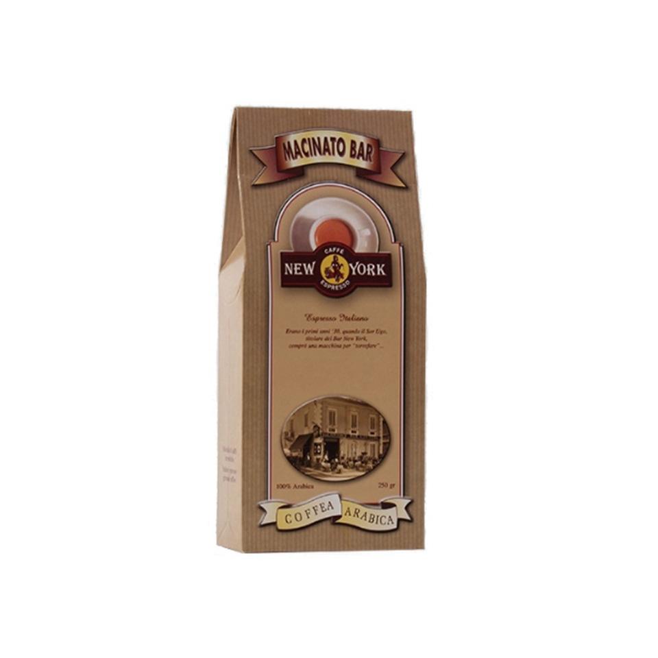 """CAFFÈ NEW YORK EXTRA Macinato Bar, 250G, Mischung verschiedener hochwertiger Kaffeesorten mit Anteil Jamaica """"Blue Mountain"""""""