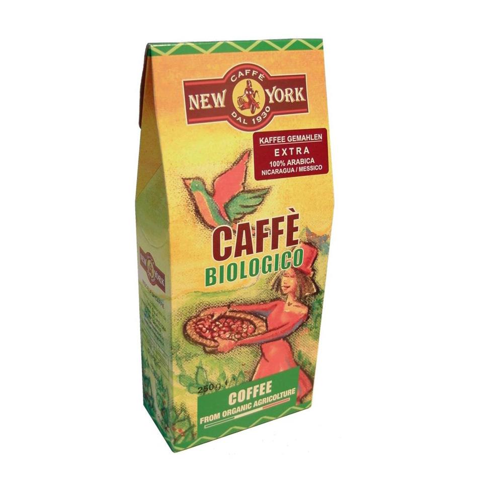 CAFFÈ NEW YORK BIO, 250 G  gemahlen 100 % Arabica