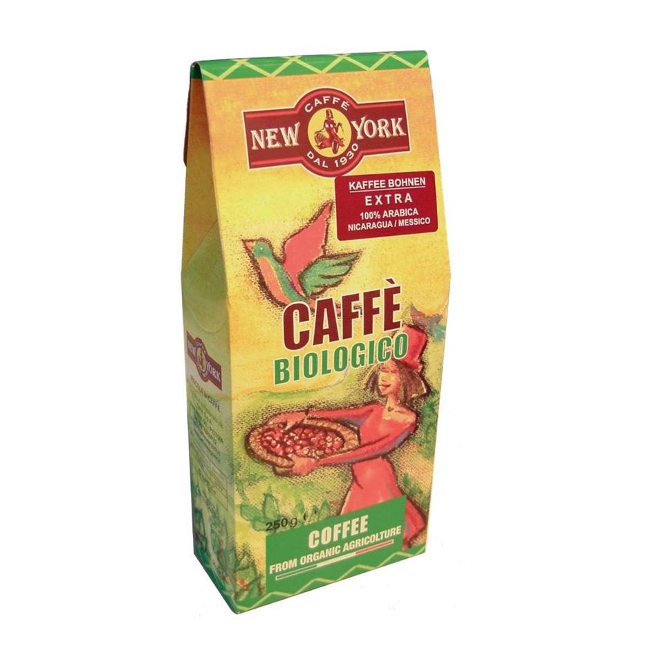 CAFFÈ NEW YORK BIO ganzeBohne, 250G, 100% Arabica aus Mexico und Nicaragua
