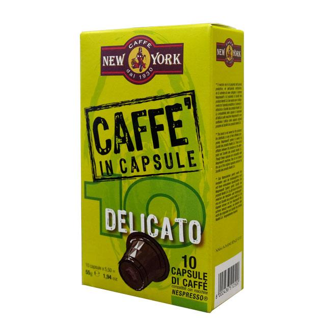 Caffé New York Kapseln Delicato Nespressokompatibel