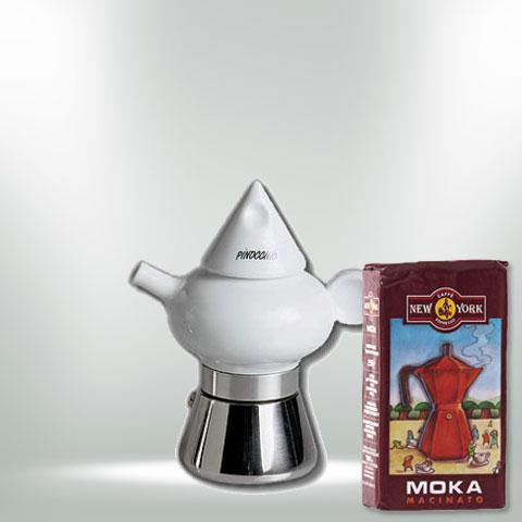 ANCAP PINOCCIO Espressokocher mit 250 g Caffé New York Mokka NY1000