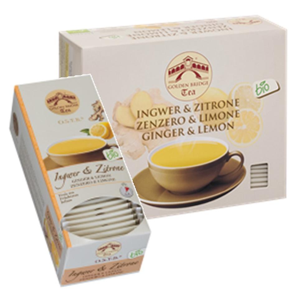 GOLDEN BRIDGE TEA CLASSIC BIO INGWER & ZITRONE