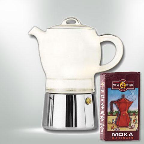 ANCAP CARINA Espressokocher  mit 250 g Caffé New York Mokka NY1000