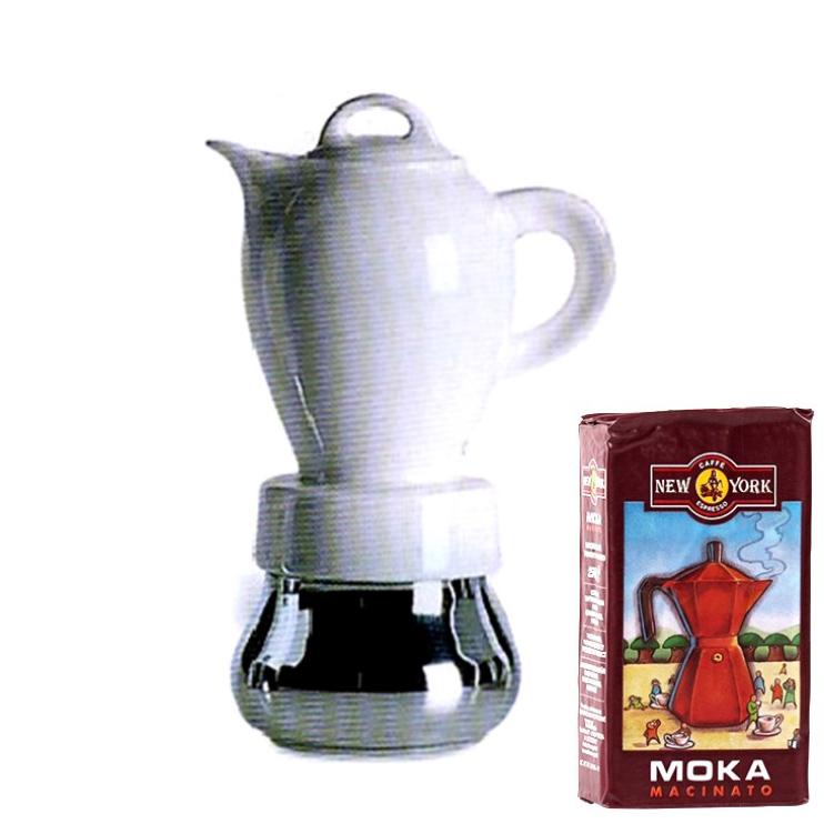 ANCAP CHERIE 4 Tassen Espressokocher  mit 250 g Caffé New York Mokka NY1000
