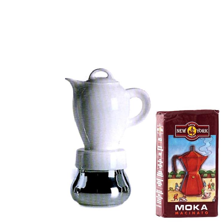ANCAP CHERIE 2 Tassen Espressokocher mit 250 g Caffé New York Mokka NY1000