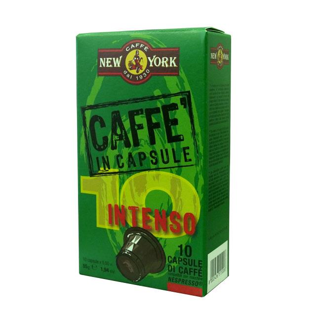 Caffé New York Kapseln Intenso Nespressokompatibel 15% Arabica, 85% Robusta