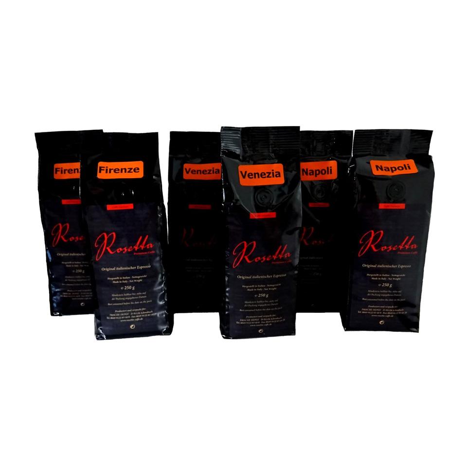 Rosetta Probierpaket  je 2 Pack. Napoli, Firenze und Venezia