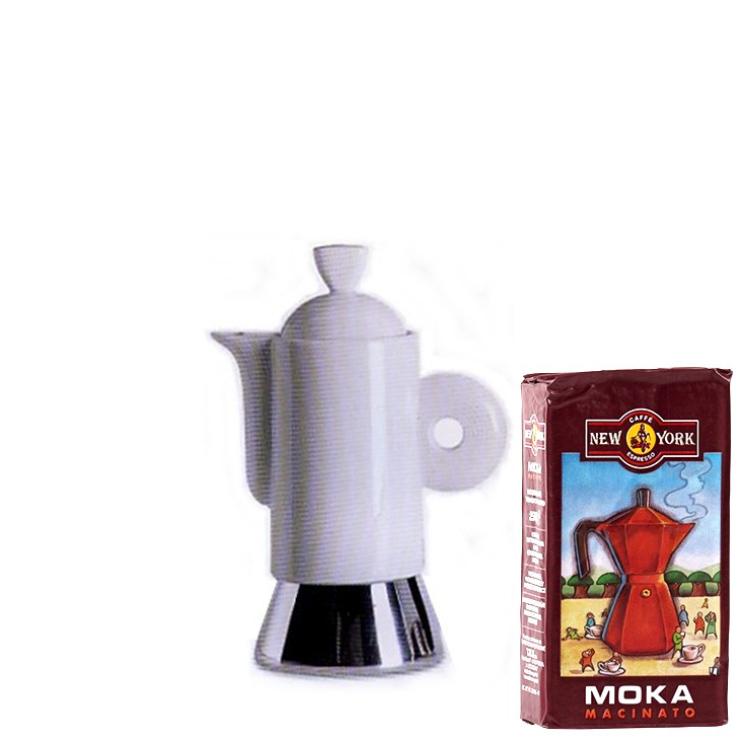 ANCAP DARLING 2 Tassen Espressokocher mit 250 g Caffé New York Mokka NY1000