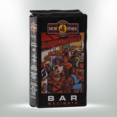 CAFFÈ NEW YORK EXTRA BAR, 250G, 60% Arabica, 40% Robusta