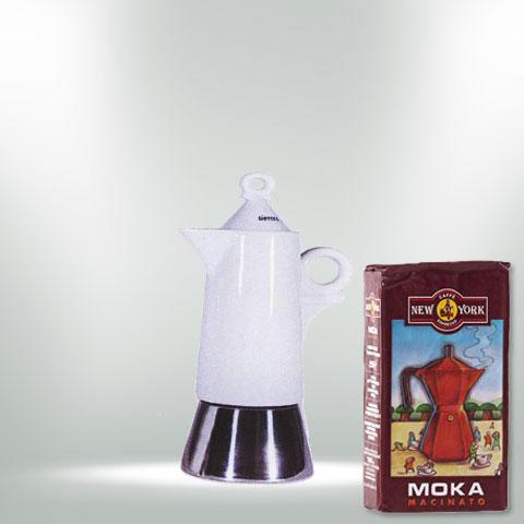ANCAP GIOTTO Espressokocher mit 250 g Caffe New York Mokka NY1000