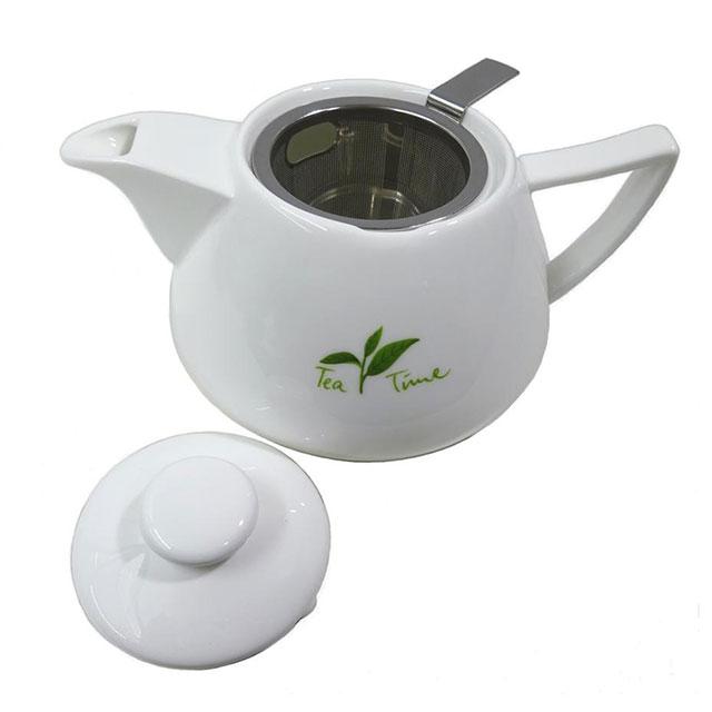 """Viropa"" Bon China Teekanne mit Microfilter"