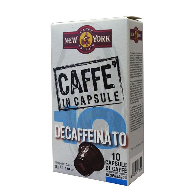 Caffé New York Kapseln Decaffeinato Nespressokompatibel
