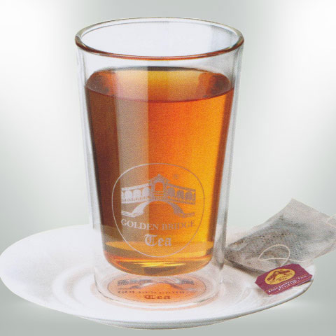 GOLDEN BRIDGE TEA TEEGLAS DOPPELWANDIG