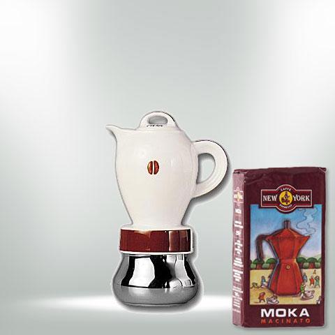 """ANCAP CHERIE """"CHICCO"""" Espressokocher mit 250 g Caffé New York Mokka NY1000"""