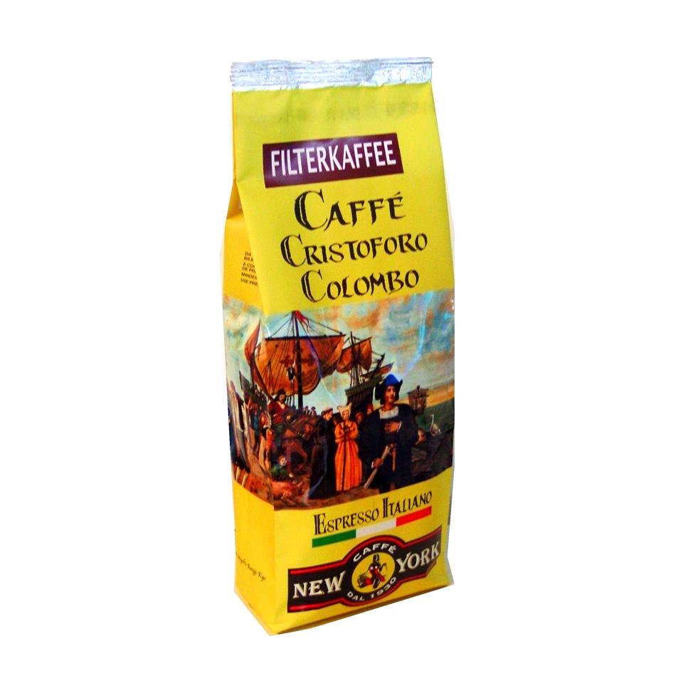 CAFFÈ NEW YORK FILTERKAFFEE, 500G, 80% Arabica 20% Robusta aus Mittelamerika und Asien
