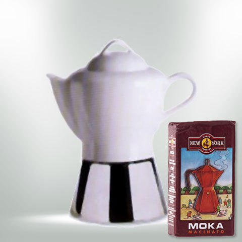 ANCAP NICOLE Espressokocher  mit 250 g Caffé New York Mokka NY1000