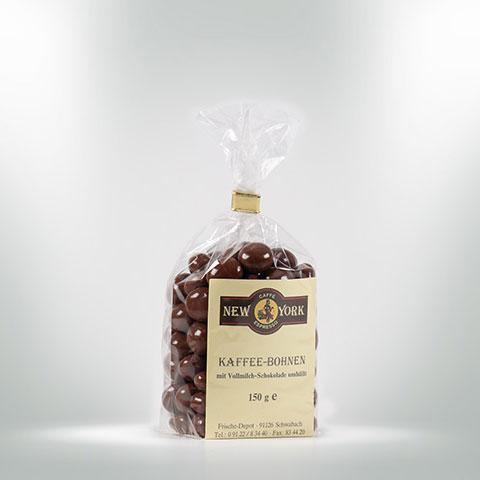 CAFFÈ NEW YORK KAFFEEBOHNEN IN VOLLMILCHSCHOKOLADE